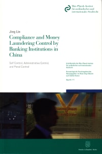 Cover Compliance and Money Laundering Control by Banking Institutions in China