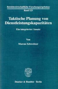Cover Taktische Planung von Dienstleistungskapazitäten