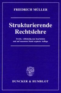 Cover Strukturierende Rechtslehre