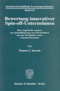 Cover Bewertung innovativer Spin-off-Unternehmen