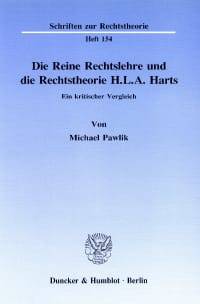 Cover Die Reine Rechtslehre und die Rechtstheorie H. L. A. Harts