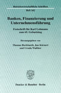 Cover Banken, Finanzierung und Unternehmensführung