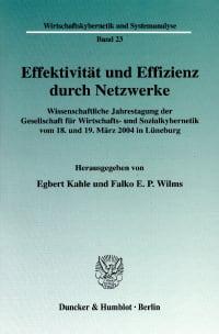 Cover Effektivität und Effizienz durch Netzwerke