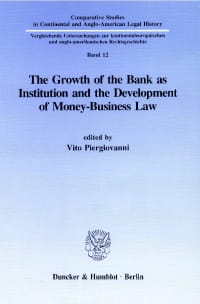 Cover The Growth of the Bank as Institution and the Development of Money-Business Law