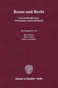 Cover Raum und Recht