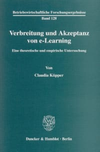 Cover Verbreitung und Akzeptanz von e-Learning