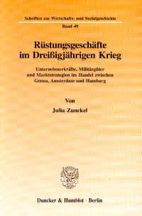 Cover Rüstungsgeschäfte im Dreißigjährigen Krieg