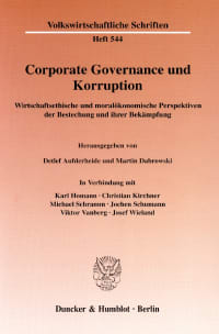 Cover Corporate Governance und Korruption
