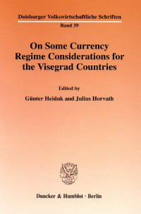 Cover On Some Currency Regime Considerations for the Visegrad Countries