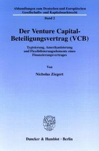 Cover Der Venture Capital-Beteiligungsvertrag (VCB)
