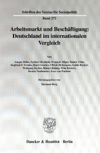 Cover Arbeitsmarkt und Beschäftigung: Deutschland im internationalen Vergleich