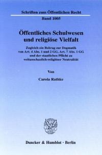 Cover Öffentliches Schulwesen und religiöse Vielfalt