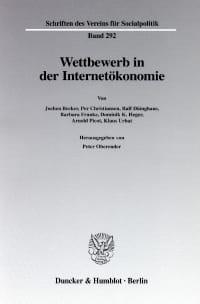 Cover Wettbewerb in der Internetökonomie