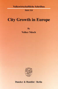 Cover City Growth in Europe