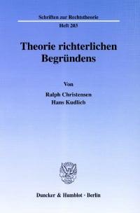 Cover Theorie richterlichen Begründens