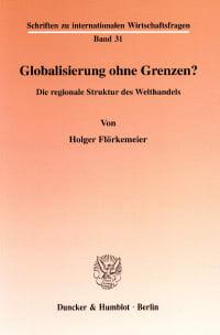 Cover Globalisierung ohne Grenzen?