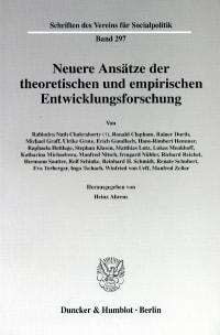 Cover Neuere Ansätze der theoretischen und empirischen Entwicklungsforschung
