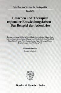 Cover Ursachen und Therapien regionaler Entwicklungskrisen -