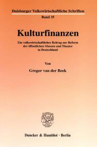 Cover Kulturfinanzen