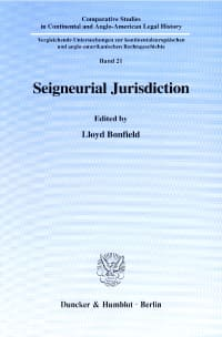 Cover Seigneurial Jurisdiction