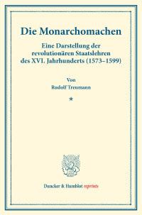 Cover Die Monarchomachen