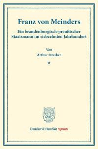 Cover Franz von Meinders