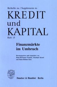 Cover Finanzmärkte im Umbruch