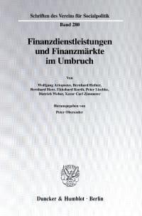 Cover Finanzdienstleistungen und Finanzmärkte im Umbruch