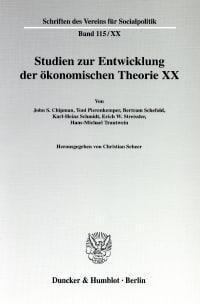Cover Die Ältere Historische Schule: Wirtschaftstheoretische Beiträge und wirtschaftspolitische Vorstellungen
