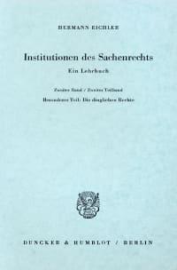 Cover Institutionen des Sachenrechts