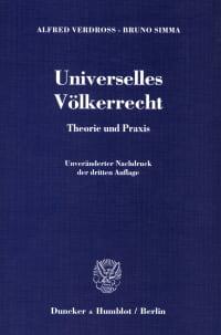Cover Universelles Völkerrecht