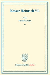 Cover Kaiser Heinrich VI
