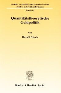 Cover Quantitätstheoretische Geldpolitik