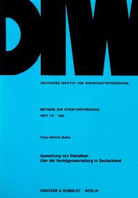 Cover Auswertung von Statistiken über die Vermögensverteilung in Deutschland