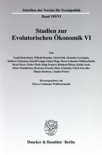 Cover Studien zur Evolutorischen Ökonomik VI