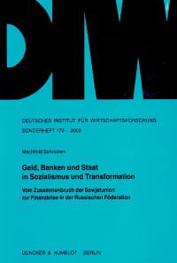 Cover Geld, Banken und Staat in Sozialismus und Transformation