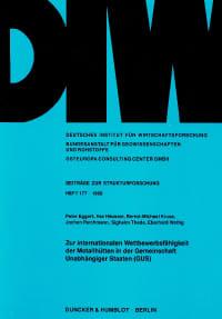 Cover Zur internationalen Wettbewerbsfähigkeit der Metallhütten in der Gemeinschaft Unabhängiger Staaten (GUS)