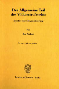 Cover Der Allgemeine Teil des Völkerstrafrechts