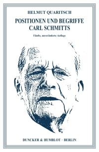 Cover Positionen und Begriffe Carl Schmitts