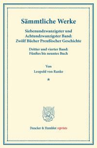 Cover Sämmtliche Werke