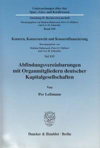 Cover Abfindungsvereinbarungen mit Organmitgliedern deutscher Kapitalgesellschaften