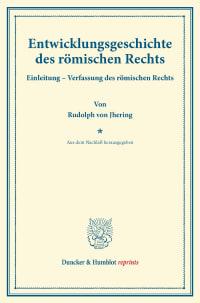 Cover Entwicklungsgeschichte des römischen Rechts