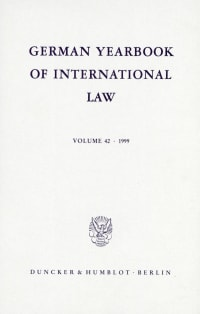 Cover German Yearbook of International Law / Jahrbuch für Internationales Recht