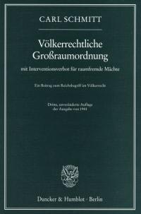 Cover Völkerrechtliche Großraumordnung
