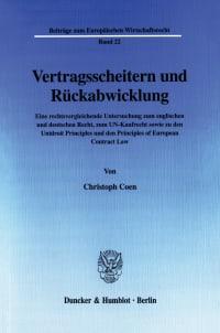 Cover Vertragsscheitern und Rückabwicklung