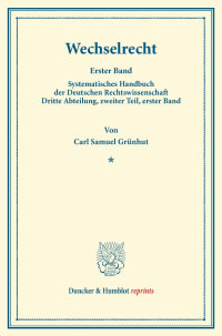 Cover Wechselrecht
