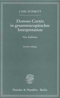 Cover Donoso Cortés in gesamteuropäischer Interpretation
