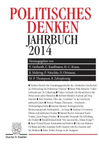 Cover Politisches Denken. Jahrbuch 2014