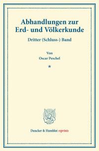 Cover Abhandlungen zur Erd- und Völkerkunde