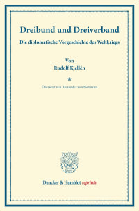 Cover Dreibund und Dreiverband